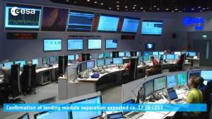 Inside the ESA control room as their Mars lander mission unfolds