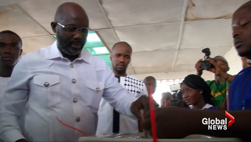 Former Ballon d'Or Winner George Weah Thanks Liberia For Voting For Him