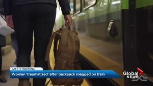 Metrolinx warns public after woman's backpack gets caught on moving train