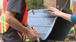 Plaque put up in place of Sir John A Macdonald statue in Victoria vandalized