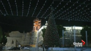 Christmas Trees in Bethlehem go dark in protest of Trump decision on Israel's capital