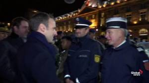 Emmanuel Macron visits reopened Strasbourg Christmas market after shooting