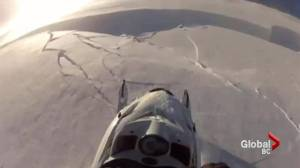 Avalanche survival caught on video