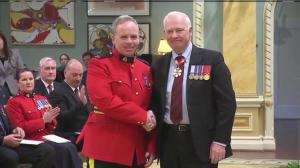 RCMP officer Patrick Ruest receives Medal of Bravery for his actions during Ottawa shooting