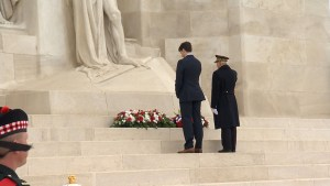 Trudeau lays wreath at Vimy Ridge War Memorial