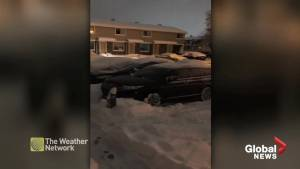 Compilation of viewer video after snow blankets parts of Alberta