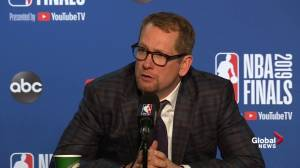 NBA Finals: Nick Nurse discusses Serge Ibaka's huge impact in Game 4 (00:35)