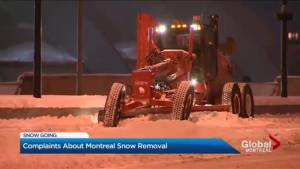 Snow removal underway after major Montreal storm (02:29)