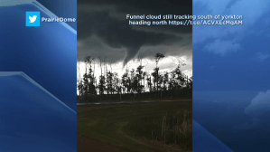 Funnel cloud weather advisory issued for Saskatoon