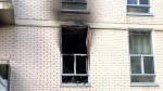 Elderly man rescued from highrise apartment building fire in Burlington