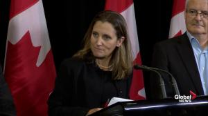 Freeland won't apologize for Canadian evacuation efforts in Caribbean