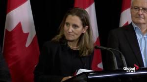 Freeland won't apologize for Canadian evacuation efforts in Caribbean