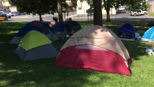 Questions arising about Peterborough's tent city for the homeless