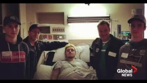 Paralyzed Broncos crash victim wants to get back on the ice