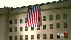 Giant American flag unveiled on the Pentagon to honour 9/11 anniversary