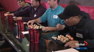 Edmontonians take part in sushi-eating contest