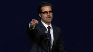 Brad Pitt leads singalong to correct mispronunciation of actor David Oyelowo's name