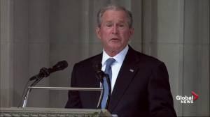John McCain funeral: Former President George W. Bush delivers eulogy