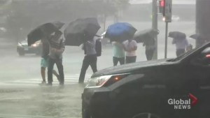 People left soaked after rains fall on Toronto