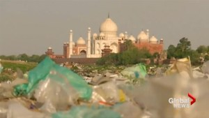 India's iconic Taj Mahal turning yellow and green due to heavy air pollution