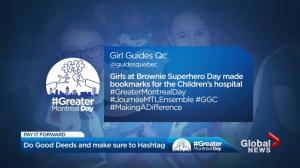 #GreaterMontrealDay, #JournéeMTLensemble: Sharing good deeds