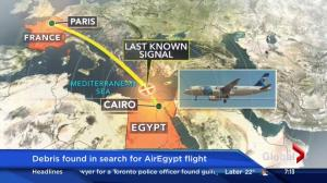 Debris found in search for EgyptAir Flight 804