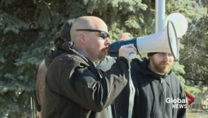 City Hall hot spot for debate as Anti-Islam and Anti-Islamophobia protesters clash