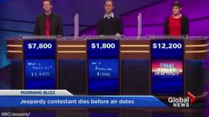 Jeopardy contestant dies before shows air