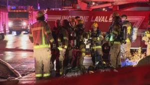 Laval apartment building evacuated after 4-alarm fire
