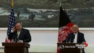 Pompeo urges Taliban peace talks