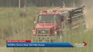 Fire burning near 100 mile house