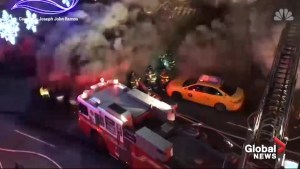Video captures terrifying moment New York firefighters engulfed by powerful backdraft