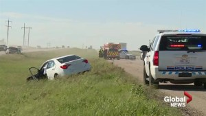 Car involved in deadly crash near Lethbridge was driving wrong way: RCMP