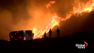 Major Southern California freeway closed amid wildfire fight