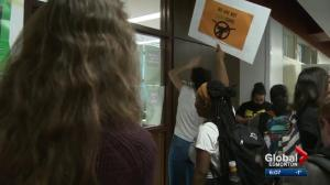 Students protest rising costs at University of Alberta