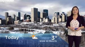Edmonton early morning weather forecast: Monday, November 12, 2018