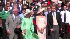 Prince Harry, Meghan Markle make 1st public appearance since their royal wedding