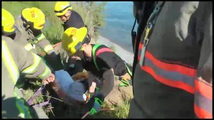 Man rescued after falling down 25-foot embankment in Cobourg