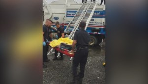 Woman dumped into garbage truck