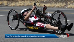 Oakville man named Canada's first paraplegic to complete Ironman
