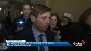 Patrick Brown steps down as Ontario PC Leader after accusations of sexual misconduct