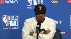 NBA Finals: 'Just a bunch of true professionals': Lowry on Raptors after Game 4 win (01:00)