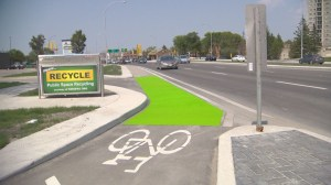 City testing safer, more durable material on bike lanes
