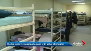 Influx of refugee claimants putting pressure on shelter system in Toronto