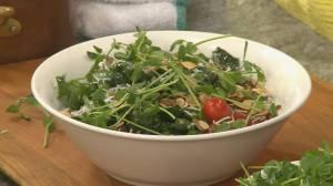 Making an ancient grain salad