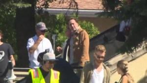 Nicolas Cage filming in Vernon