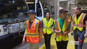 Transit-loving teens tour Halifax bus centre