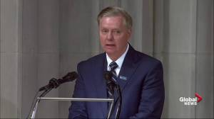 John McCain funeral: Senator Lindsey Graham reads Bible passage