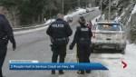 Whistler crash sends 2 to hospital.