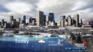 Edmonton early morning weather forecast: Thursday, March 22, 2018